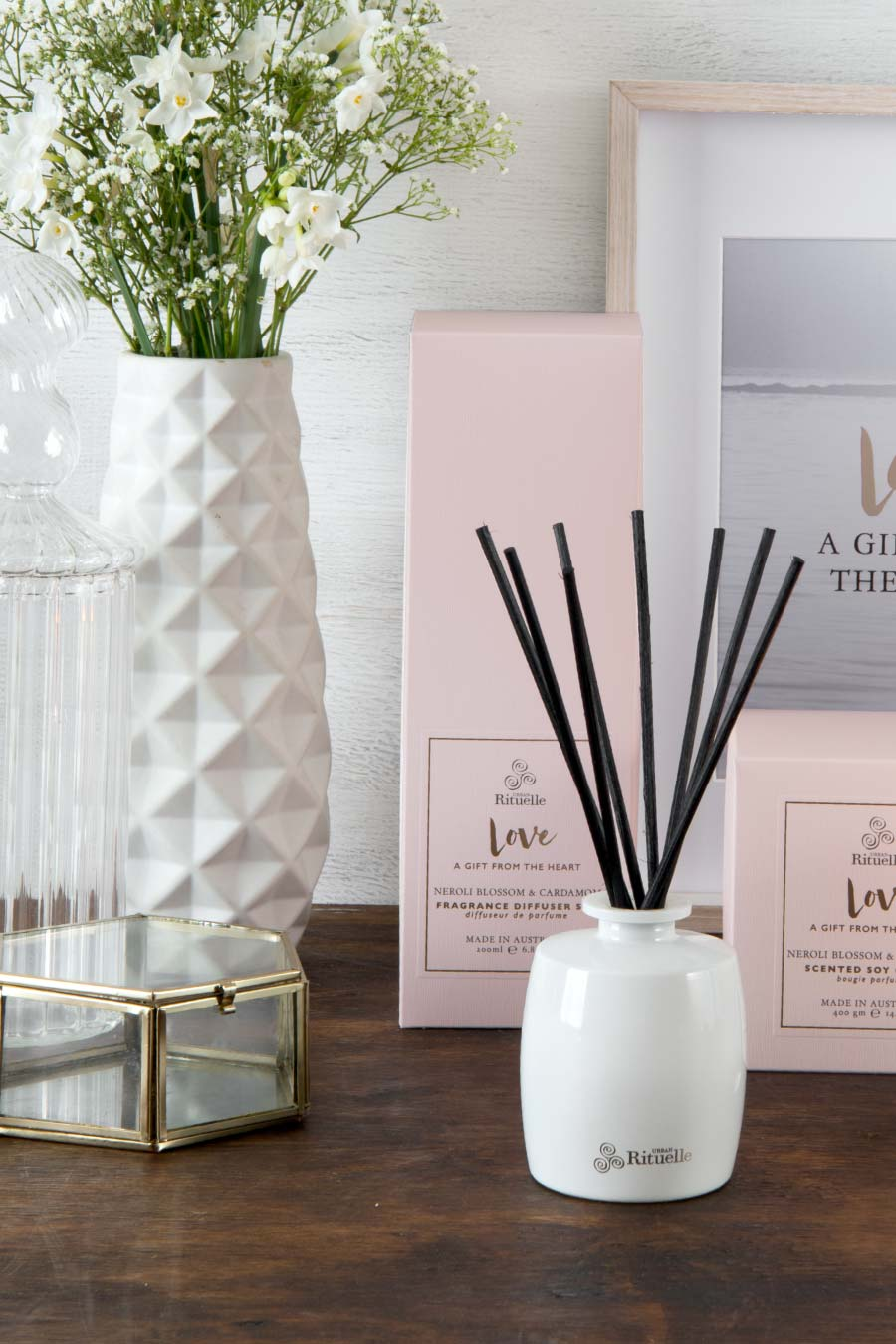 Scented Offerings Love Fragrance Diffuser Set